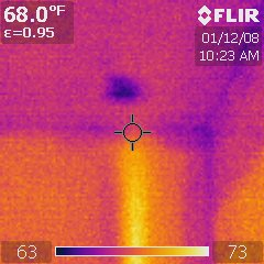 Infrared Thermal Analysis: Shower Leak