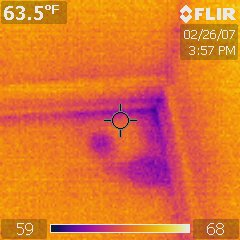 Infrared Thermal Analysis: Floor Leak Under Carpet