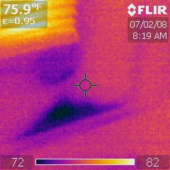 Infrared Thermal Analysis: Ceiling Leak Below window