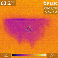 Infrared Thermal Analysis: Basement ceiling Leak