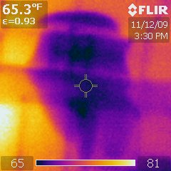 Infrared Thermal Analysis: Ceiling Leak Below Roof Valley